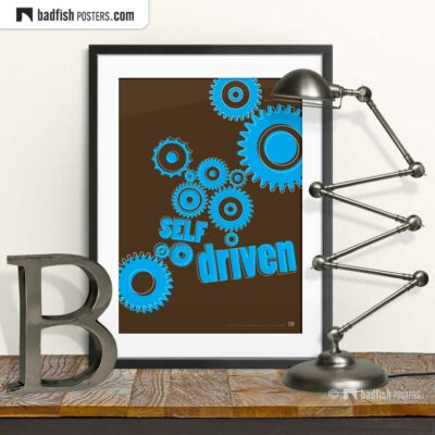 Self Driven | Graphic Poster | © BadFishPosters.com