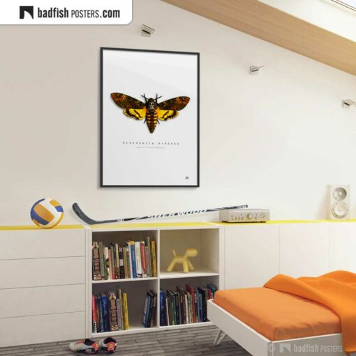 The Silence Of The Lambs | Death's-Head Hawkmoth | Movie Art Poster | Gallery Image | © BadFishPosters.com