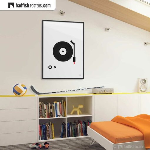 Spin That Vinyl | Minimal Poster | Gallery Image | © BadFishPosters.com