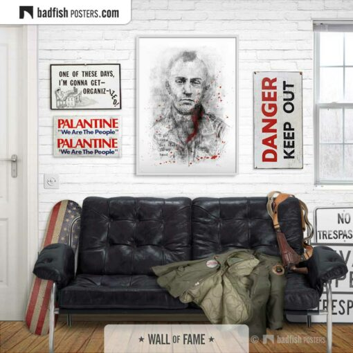 Taxi Driver | Travis Bickle | Movie Art Poster | Gallery Image | © BadFishPosters.com