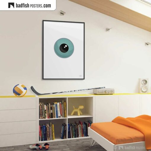 The Eye | Orwellian Graphic Poster | Gallery Image | © BadFishPosters.com