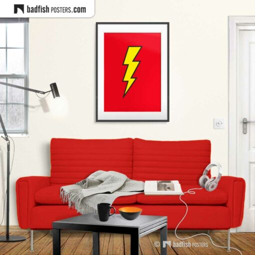 The Flash | Comic Style Poster | Gallery Image | © BadFishPosters.com