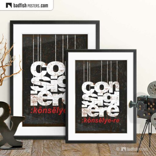 The Godfather | Consigliere | Movie Art Poster | Gallery Image | © BadFishPosters.com
