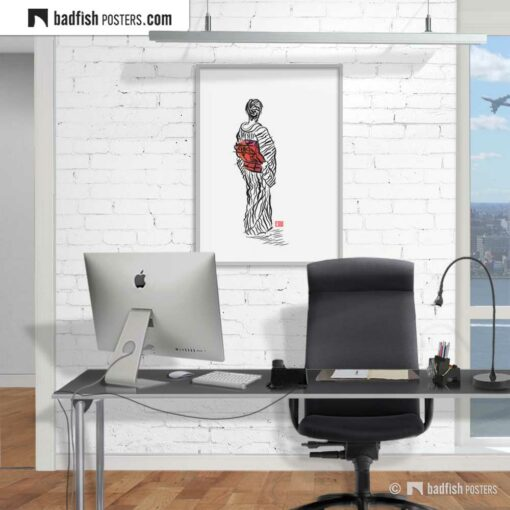 The Kimono Lady | Art Poster | Gallery Image | © BadFishPosters.com