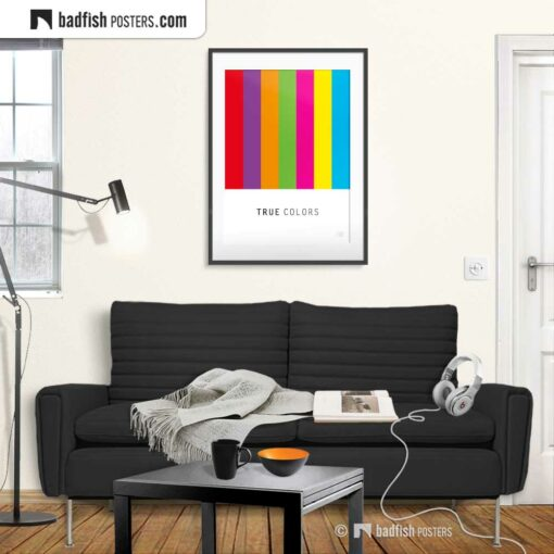 True Colors | Graphic Poster | Gallery Image | © BadFishPosters.com