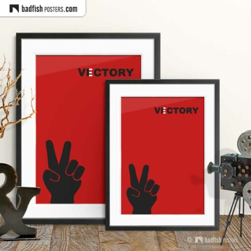 Vectory | Victory | Graphic Poster | Gallery Image | © BadFishPosters.com