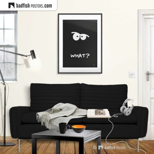 What? | Comic Style Poster | Gallery Image | © BadFishPosters.com