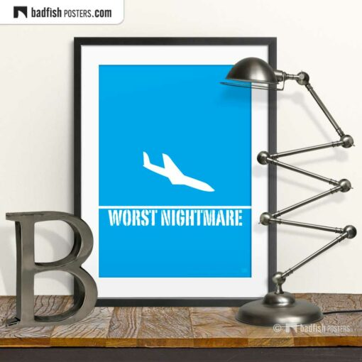 Worst Nightmare | Terrifying Graphic Poster | © BadFishPosters.com