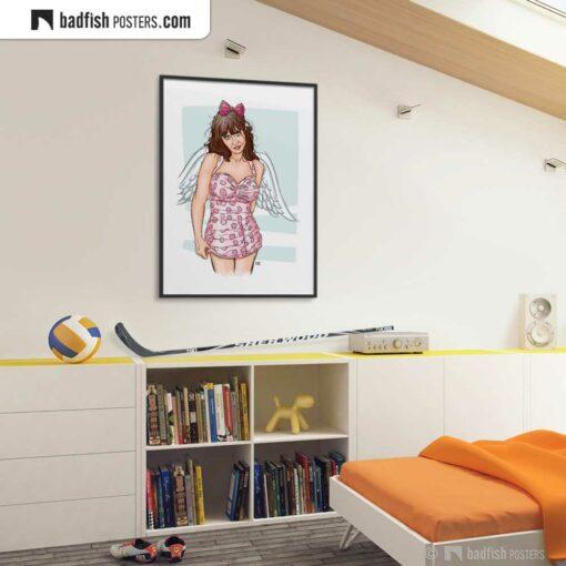 Zooey Deschanel   Art Poster   Gallery Image   © BadFishPosters.com