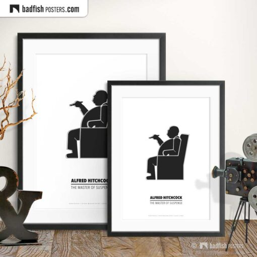 Alfred Hitchcock   Minimal Movie Poster   Gallery Image   © BadFishPosters.com