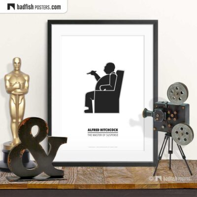 Alfred Hitchcock | Minimal Movie Poster | © BadFishPosters.com