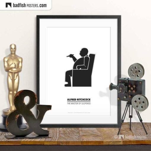 Alfred Hitchcock   Minimal Movie Poster   © BadFishPosters.com