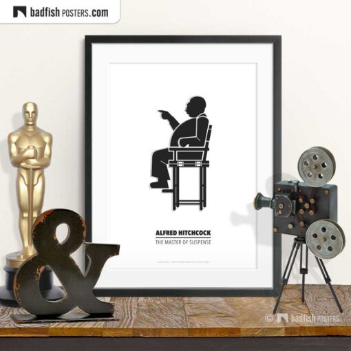 Alfred Hitchcock | Director's Chair | Minimal Movie Poster | © BadFishPosters.com