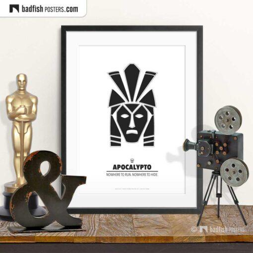 Apocalypto   Mayan Mask   Minimal Movie Poster   © BadFishPosters.com