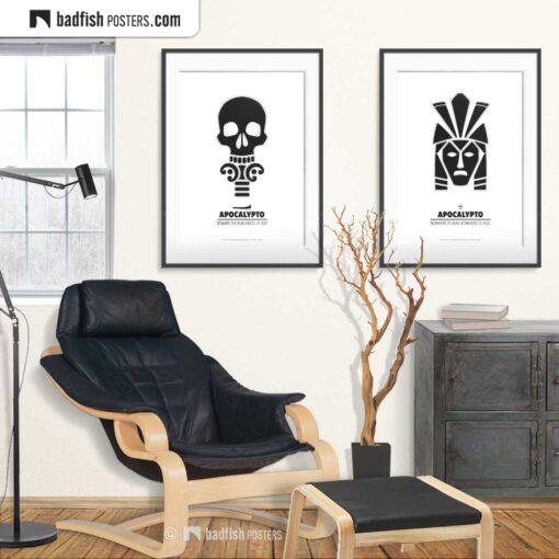 Apocalypto | Skull | Minimal Movie Poster | Gallery Image | © BadFishPosters.com