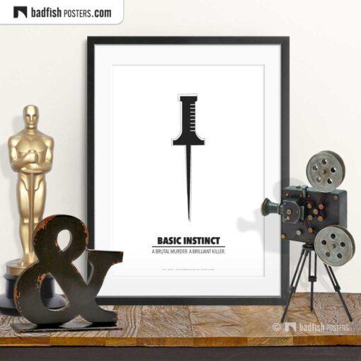 Basic Instinct | Minimal Movie Poster | © BadFishPosters.com