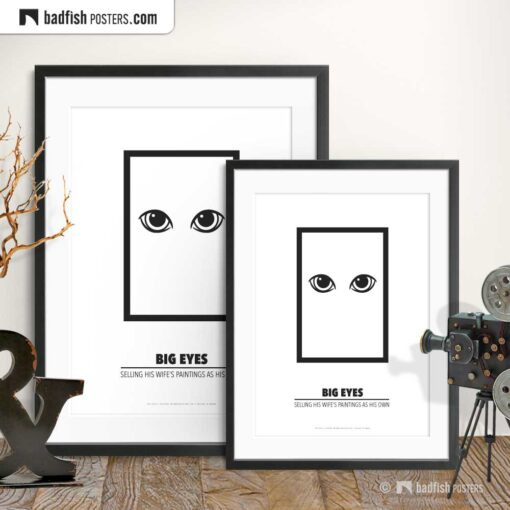 Big Eyes | Minimal Movie Poster | Gallery Image | © BadFishPosters.com