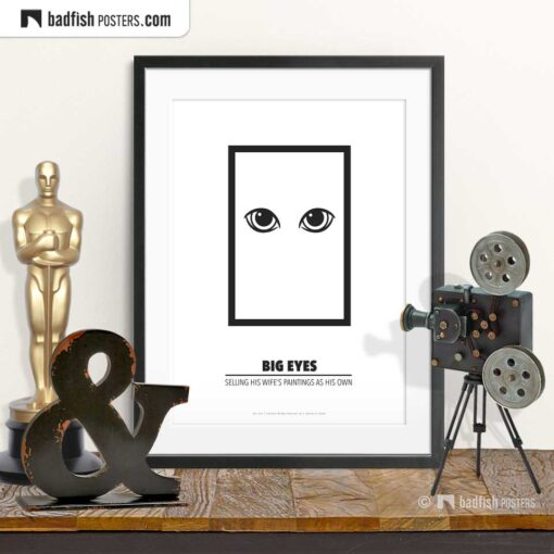 Big Eyes | Minimal Movie Poster | © BadFishPosters.com