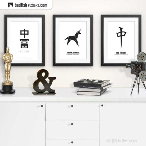 Blade Runner | Origami Unicorn | Minimal Movie Poster | Gallery Image | © BadFishPosters.com