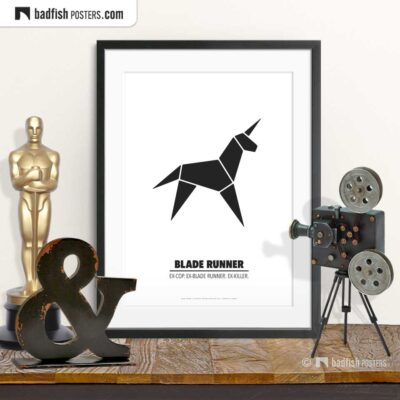 Blade Runner | Origami Unicorn | Minimal Movie Poster | © BadFishPosters.com