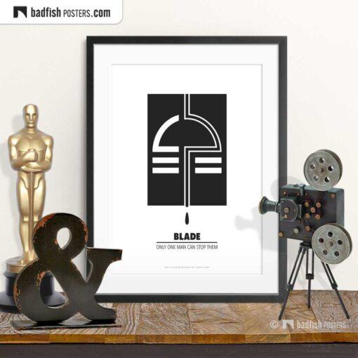 Blade | Minimal Movie Poster | © BadFishPosters.com