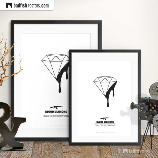 Blood Diamond | Minimal Movie Poster | Gallery Image | © BadFishPosters.com