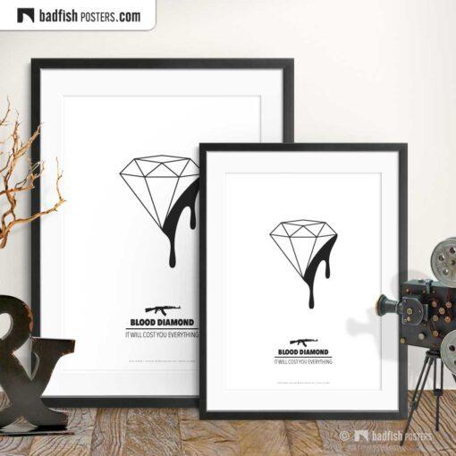 Blood Diamond | Minimal Movie Poster | Gallery Image | © BadFishPosters.com