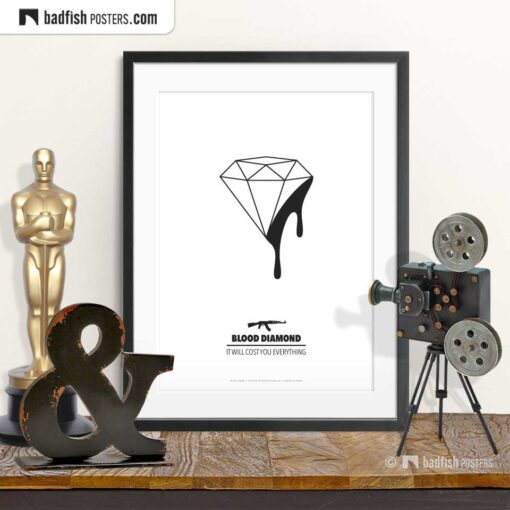 Blood Diamond | Minimal Movie Poster | © BadFishPosters.com