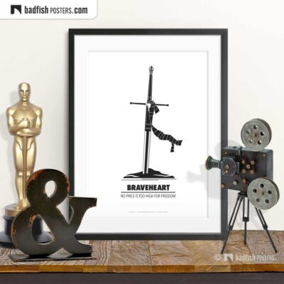 Braveheart | Minimal Movie Poster | © BadFishPosters.com