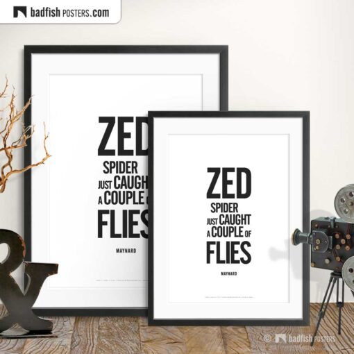 Caught A Couple Of Flies | Typographic Movie Poster | Gallery Image | © BadFishPosters.com