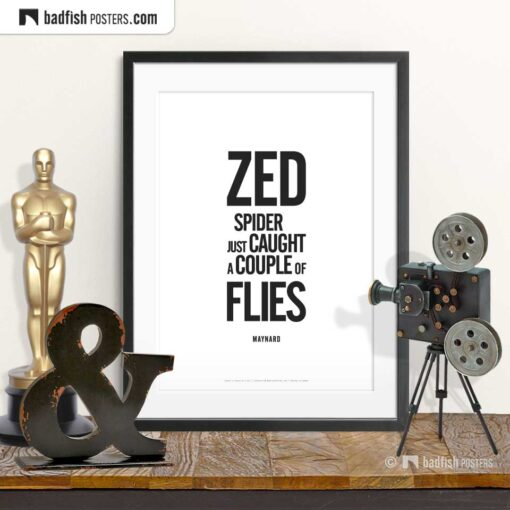 Caught A Couple Of Flies | Typographic Movie Poster | © BadFishPosters.com