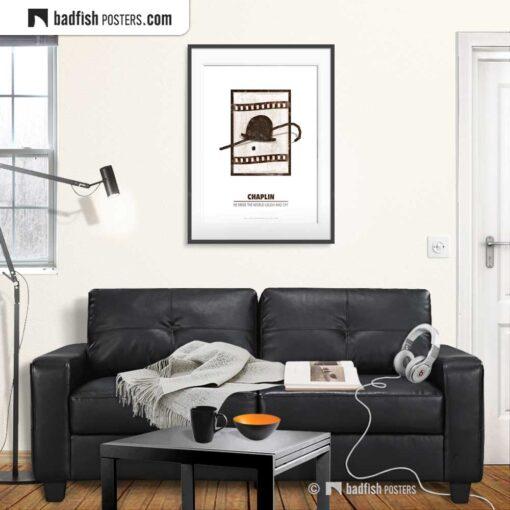 Chaplin | Minimal Movie Poster | Gallery Image | © BadFishPosters.com