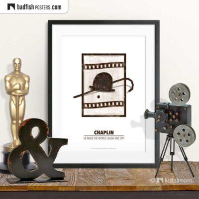 Chaplin | Minimal Movie Poster | © BadFishPosters.com