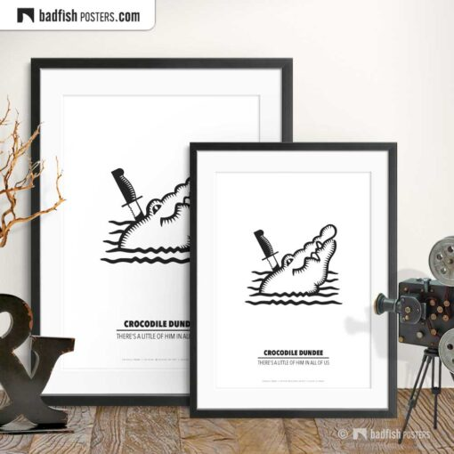 Crocodile Dundee | Minimal Movie Poster | Gallery Image | © BadFishPosters.com