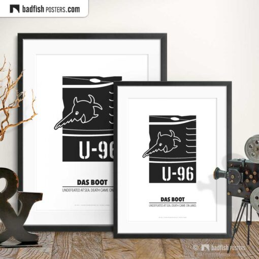 Das Boot | U-96 | Laughing Sawfish | Minimal Movie Poster | Gallery Image | © BadFishPosters.com