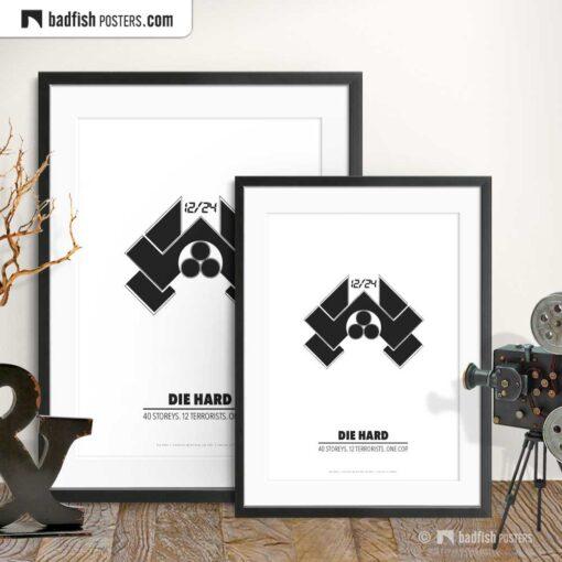 Die Hard | Nakatomi | Minimal Movie Poster | Gallery Image | © BadFishPosters.com