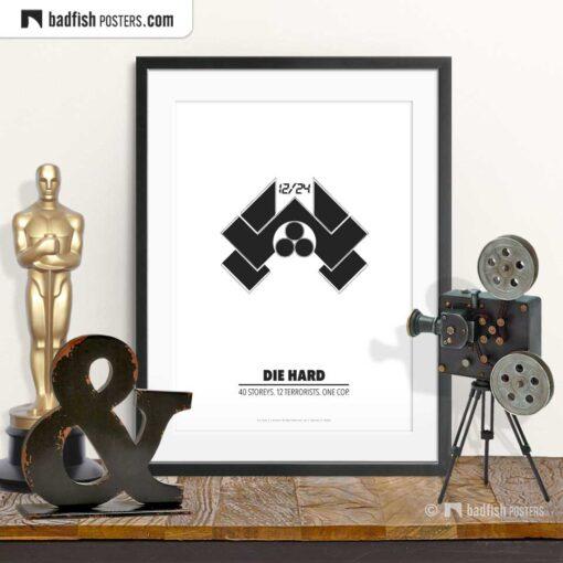 Die Hard | Nakatomi | Minimal Movie Poster | © BadFishPosters.com