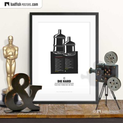 Die Hard | Water Jug Riddle | Minimal Movie Poster | © BadFishPosters.com