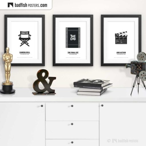 Editing Room | Minimal Movie Poster | Gallery Image | © BadFishPosters.com