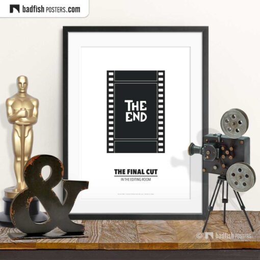 Editing Room | Minimal Movie Poster | © BadFishPosters.com