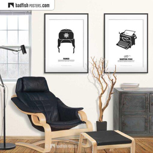 Fargo | Brainerd Police Hat | Minimal Movie Poster | Gallery Image | © BadFishPosters.com