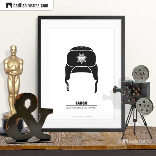 Fargo | Brainerd Police Hat | Minimal Movie Poster | © BadFishPosters.com