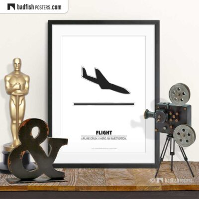 Flight | Minimal Movie Poster | © BadFishPosters.com