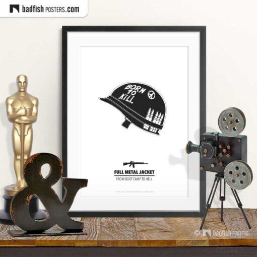 Full Metal Jacket | Minimal Movie Poster | © BadFishPosters.com