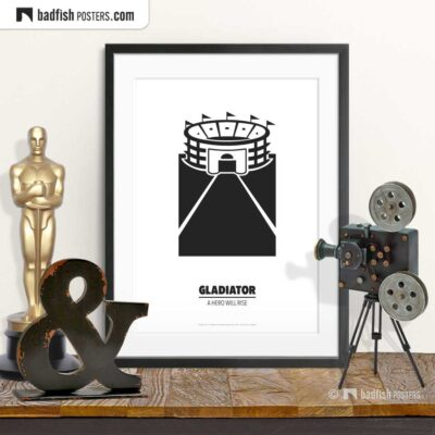 Gladiator | Circus Maximus | Minimal Movie Poster | © BadFishPosters.com