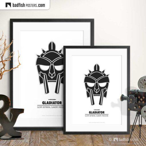 Gladiator | Helmet | Minimal Movie Poster | Gallery Image | © BadFishPosters.com