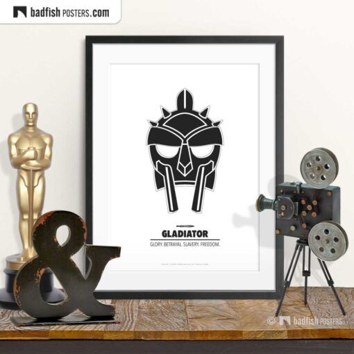 Gladiator | Helmet | Minimal Movie Poster | © BadFishPosters.com