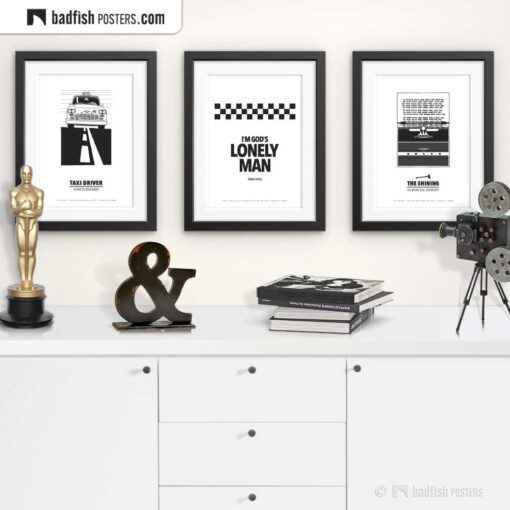 God's Lonely Man | Typographic Movie Poster | Gallery Image | © BadFishPosters.com