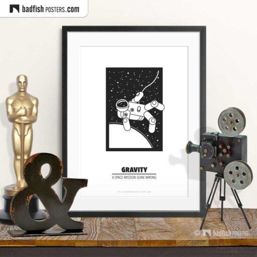Gravity | Minimal Movie Poster | © BadFishPosters.com
