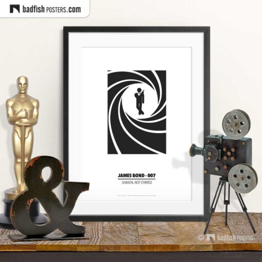 James Bond - 007 | Minimal Movie Poster | © BadFishPosters.com